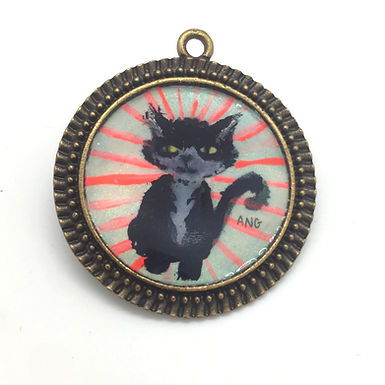 Cat Pendant by April Gee
