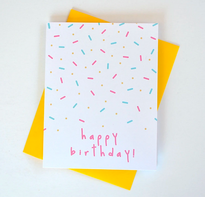 Happy Birthday Sprinkles Card by Pennie Post