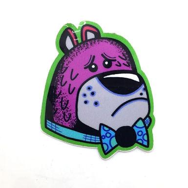 Bowtie Bear Sticker by Aidan Monahan