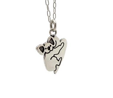 Little Koala Hug Heart Necklace by Mark Poulin