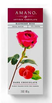 Raspberry Rose Chocolate Bar by Amano Artisan Chocolate