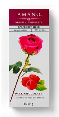 Raspberry Rose 55% Chocolate Bar by Amano Artisan Chocolate
