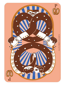 Friendship and Pretzels Print by Harumo Bakery