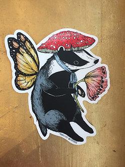 Badger Sticker by Marika Daz Illustration