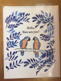 Hello, How are you? Letterpress card by iLee Paper Goods