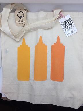 Orange Sauce Tote Bag by War Admiral Press