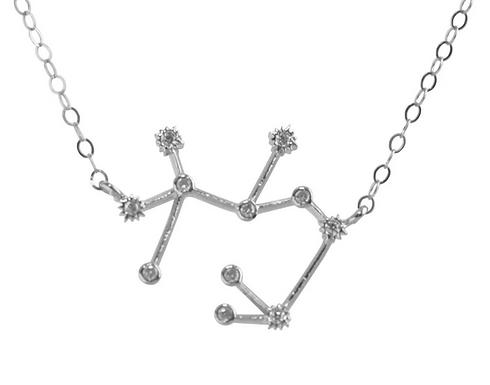 Silver Sagittarius Constellation Necklace by Thesis of Alexandria