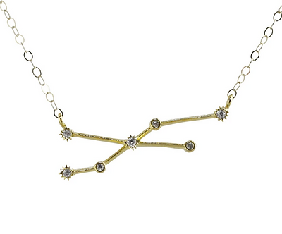 Gold Taurus Constellation Necklace by Thesis of Alexandria
