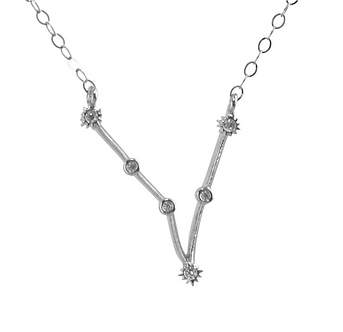 Silver Pisces Constellation Necklace by Thesis of Alexandria
