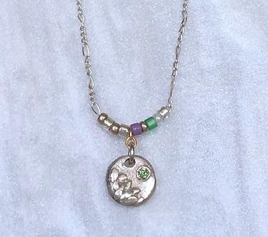 Mini Lotus Necklace by Petite Sunflower Shop