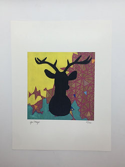 Silhouette Stag by Jen Meyer