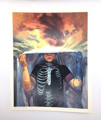 """Walker between Worlds"" Signed Print by Steven Russell Black"