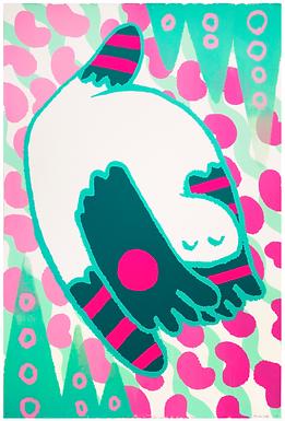 Spring Dance (editioned) Screen Print by Harumo Sato