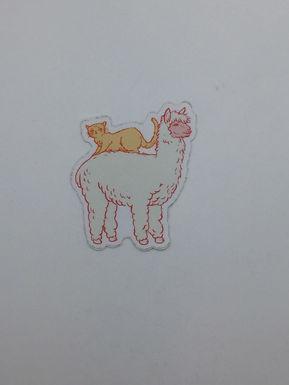 Cat and Llama Sticker