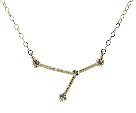 Gold Cancer Constellation Necklace by Thesis of Alexandria