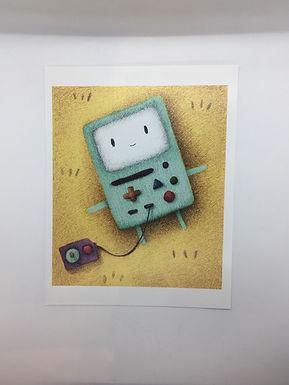 Adventure Time B-mo Print by Ria Art