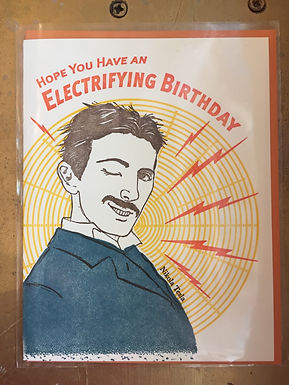 Hope you have an Electrifying Birthday LetterpreCard by iLee Paper Goods