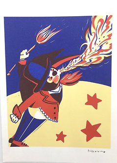 Fire Blowing Man Print by Harumo Sato