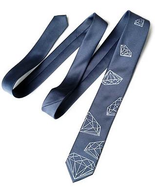 Diamond Print Silk Necktie by Cyberoptix