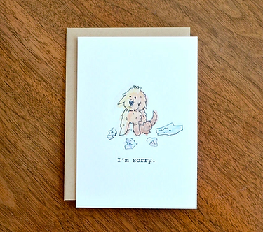 Dog Ate My Homework Sorry Card by Pennie Post
