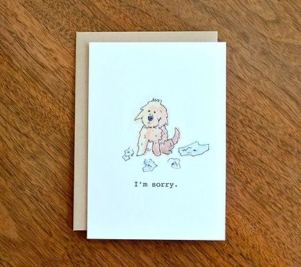 Dog Ate My Homework Sorry Card by Pennie Post