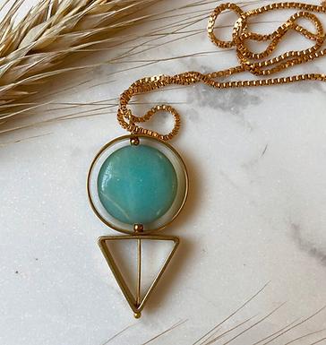 Geometric Amazonite Necklace
