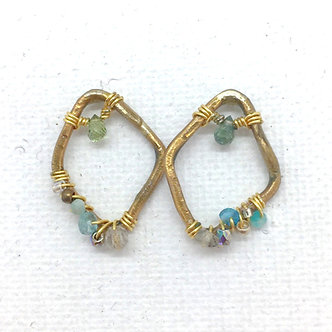 Aquamarine Rhombus Earrings by Petite Sunflower Shop