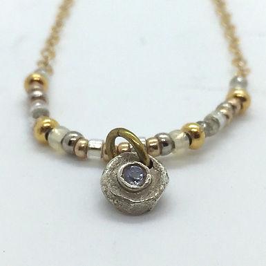 Tanzanite Dot Necklace by Petite Sunflower Shop