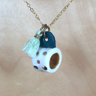 Fairy Mug Teacup Necklace by Dawning Collective
