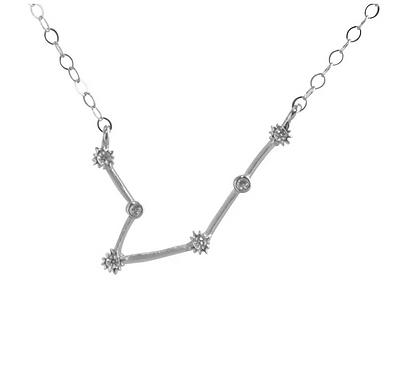 Silver Aquarius Constellation Necklace by Thesis of Alexandria