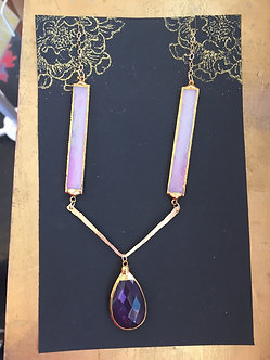 Glass and Amethyst Necklace