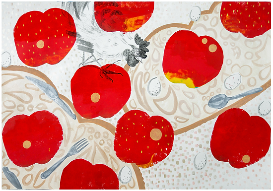Food Chain Print by Harumo Sato