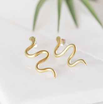 Snake Earrings by Opal & Gold