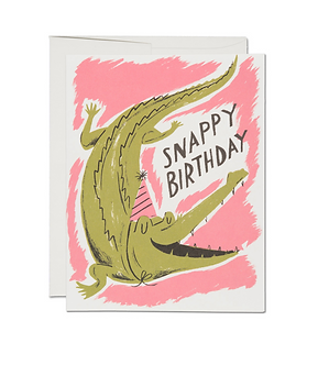 Snappy Birthday Card by Red Cap Cards