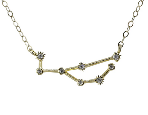 Gold Virgo Constellation Necklace by Thesis of Alexandria