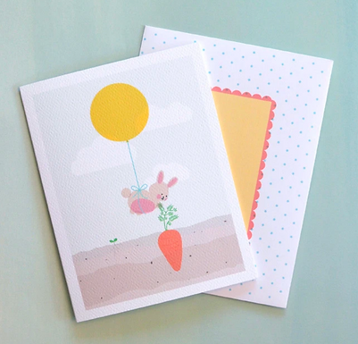 Bunny and Balloon Card by Pennie Post