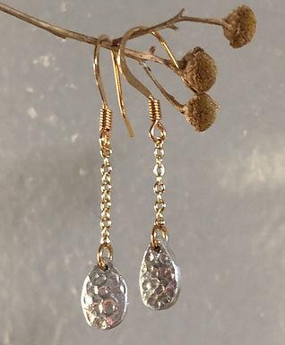 Silver Teardrop Earrings by Petite Sunflower Shop