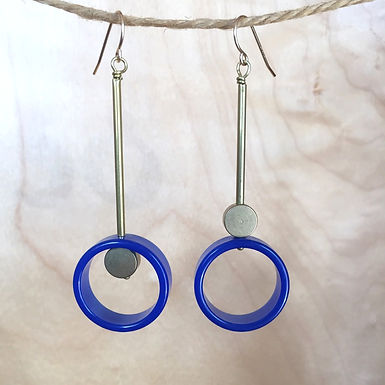 Vintage Lucite Geometric Earrings by Sora Designs