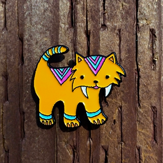 Sabertooth Tiger Enamel Pin by Mark Poulin