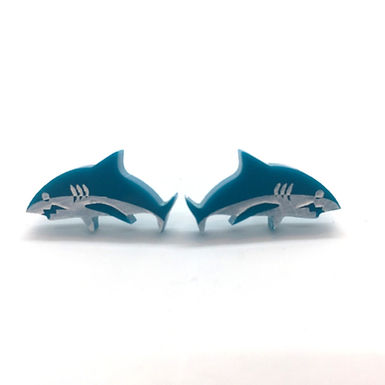 Shark Stud Earrings by Splendid Colors