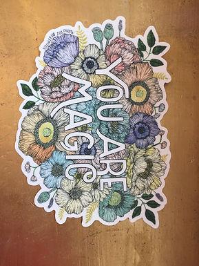 """You Are Magic"" Sticker by Marika Daz Ilustration"