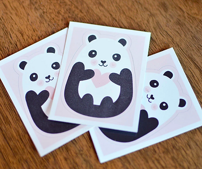 Panda Heart Vinyl Sticker by Pennie Post