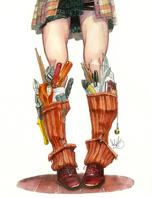 Sock Holsters Print by Scout Tran