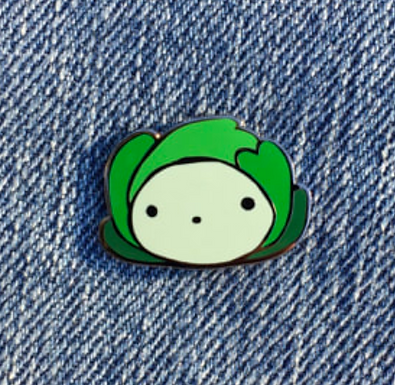 Happy Cabbage Enamel Pin by That's Good Paper