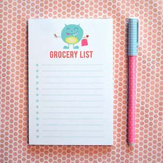 Monster Grocery List Pad by Pennie Post
