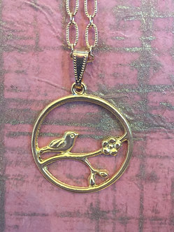 Vintage bird necklace