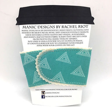 Reusable Cloth Cup Sleeve by Manic Designs