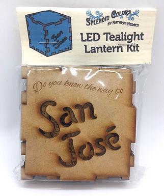 San Jose #2 LED Tealight Lantern Kit by Splendid Colors