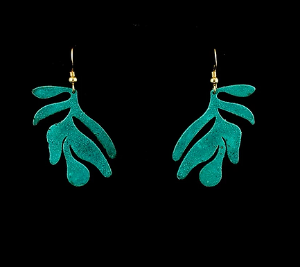 Palm Earrings by Modern Artifacts