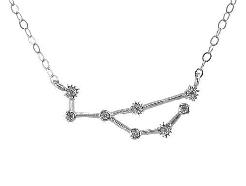 Silver Virgo Constellation Necklace by Thesis of Alexandria